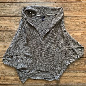 Marled Heather Beige Cocoon Bat Wing Sweater